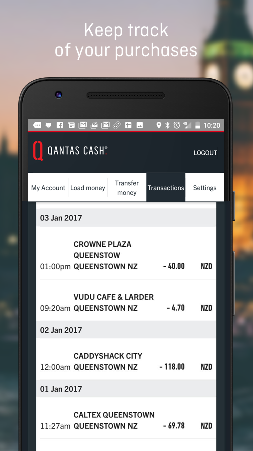 Qantas Cash- screenshot