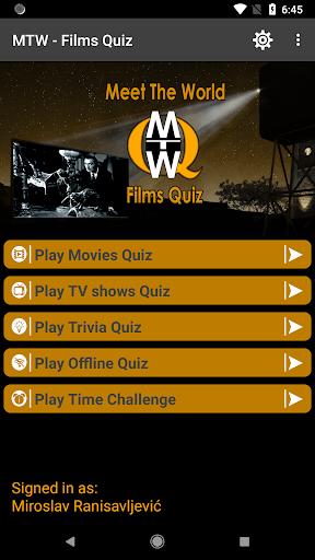 MTW - Films quiz  captures d'u00e9cran 1