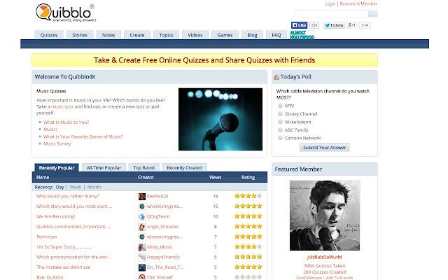 Quibblo New Tab