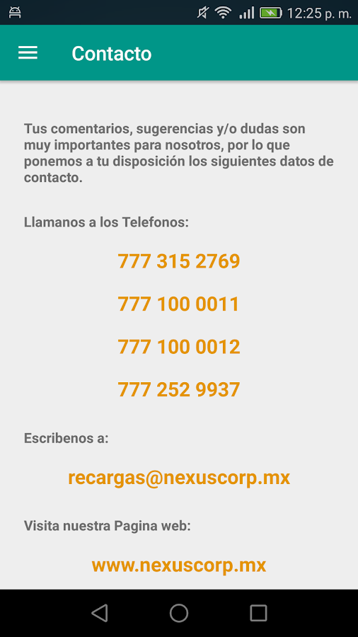 Nexus Recargas- screenshot