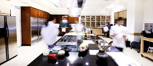 Photo: Los Angeles Times test kitchen for a video series about the test kitchen.  Videos are by Myung Chun and can be found at latimes.com/testkitchen