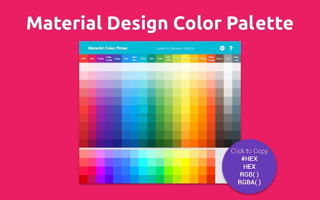 Material Design Color Palette - Click to Copy