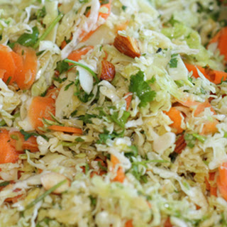 Cabbage Salad With Cilantro and Toasted Almonds.