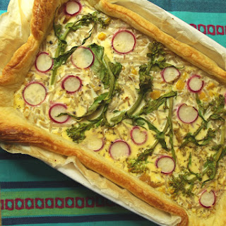 Puff Pastry Tart with Chicken Filling.