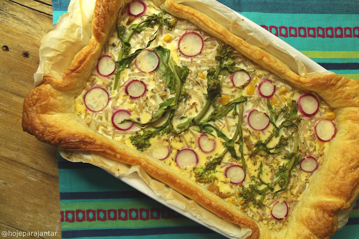 Puff Pastry Tart with Chicken Filling Recipe