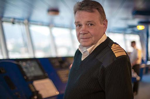 Captain Atle Hahon Knutsen on the bridge of Viking Star.