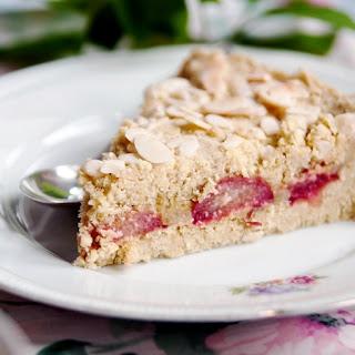 VEGAN RHUBARB-MARZIPAN CAKE / TART (GLUTEN-FREE).