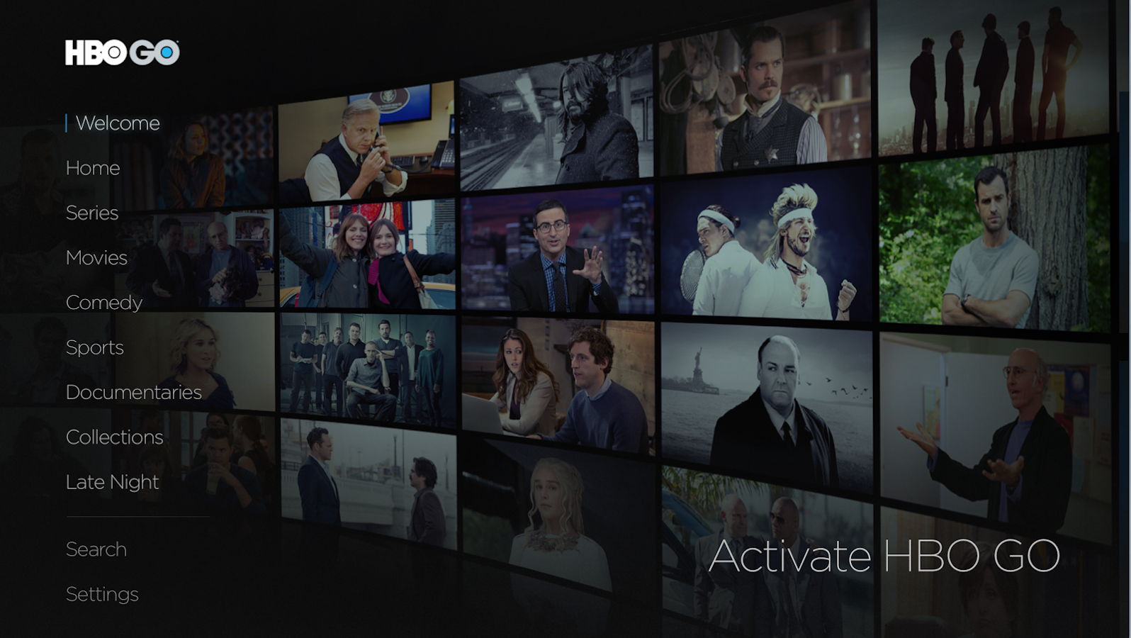 HBO GO Android TV- screenshot