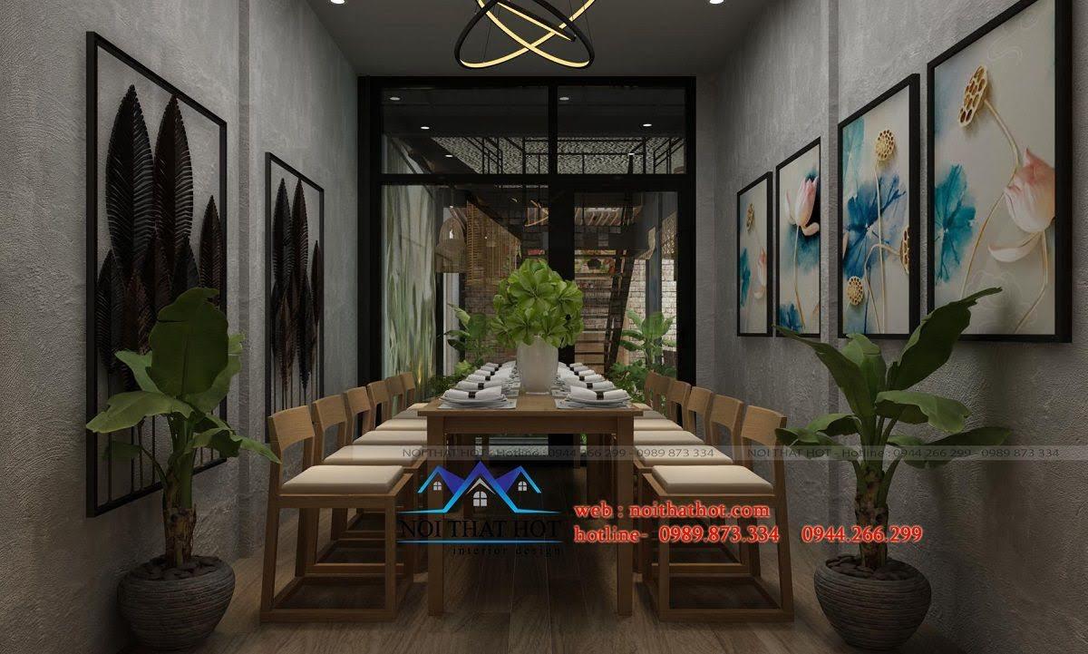 thiết kế nhà hàng đẹp nhất hà nội