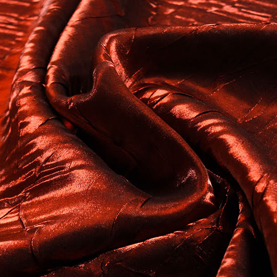 Röd/Svart Glansig Satäng