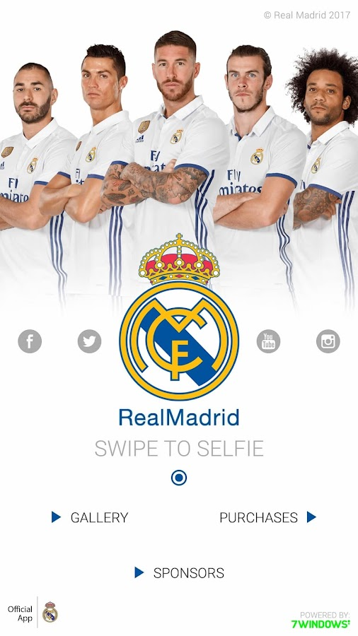 Real Madrid selfie- screenshot