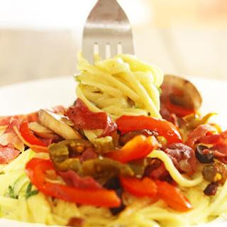 Skinny Creamy Cowboy Spaghetti (aka Skinny Hot Pasta)