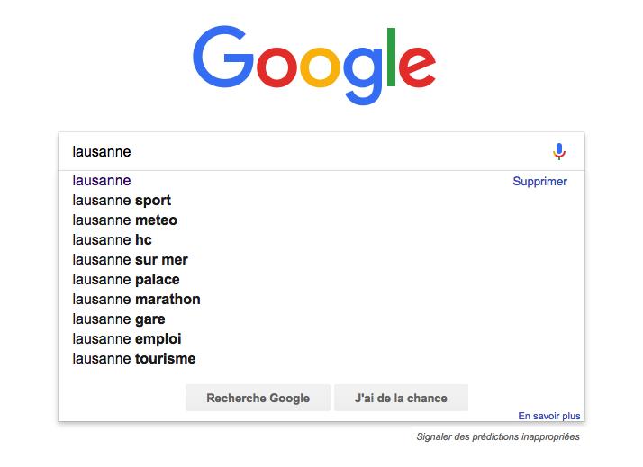 Recherche avec Google