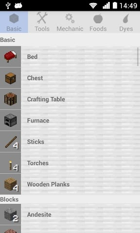 android Crafting Recipes Screenshot 0