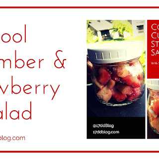 Cool Cucumber and Strawberry Salad with Vinaigrette