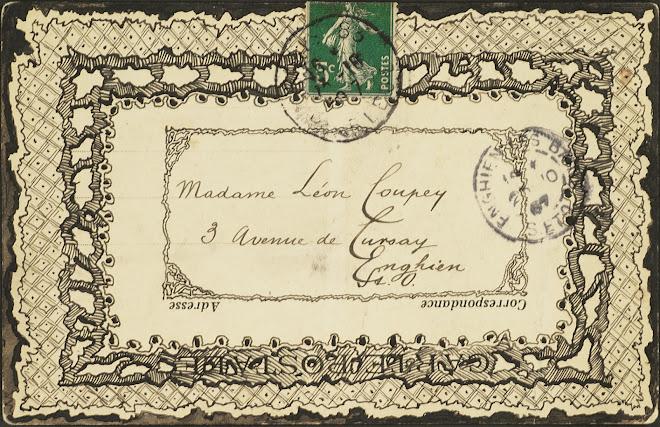 <p> <strong>L&eacute;on Coupey<br /> To Madame L&eacute;on Coupey (Enghien)</strong><br /> Ink &amp; wash on card<br /> 3 &frac12;&quot; x 5 &frac12;&quot;<br /> 1907</p> <p> Collection Annik Coupey-Smith, Eastbourne, UK<br /> Set 7B.8</p>