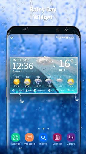 Live weather & clock widget screenshots 1