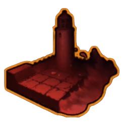紅く染まった港