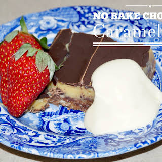 No Bake Chocolate Caramel Slice – GLUTEN FREE.