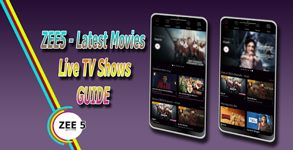 Guide for ZEE5 – Live TV Shows And Latest Movies apk download 1