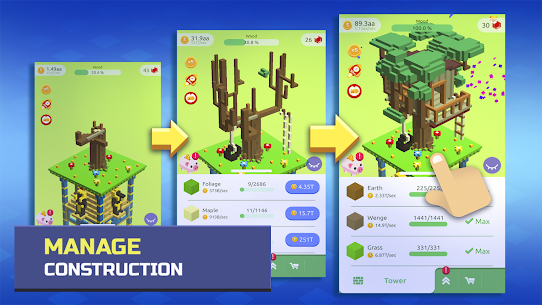 TapTower – Idle Building Game Apk Download For Android and Iphone 4