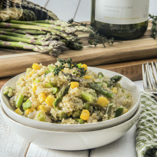 Quinoa Risotto with Asparagus.