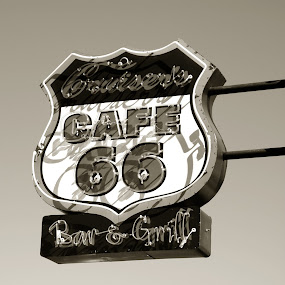 Cruisers by Kellie Prowse - Products & Objects Signs ( sign, 66, route, cruisers cafe, cruisers, route 66 )