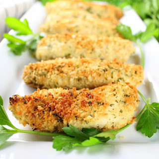 Parmesan Baked Chicken Strips.