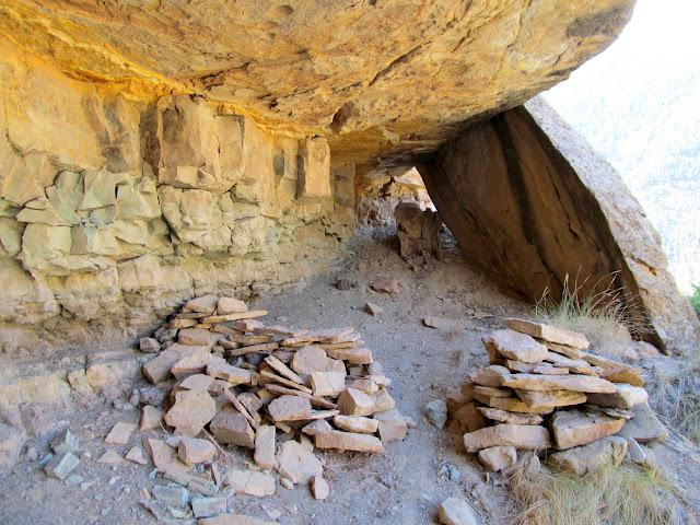 Crude rock walls