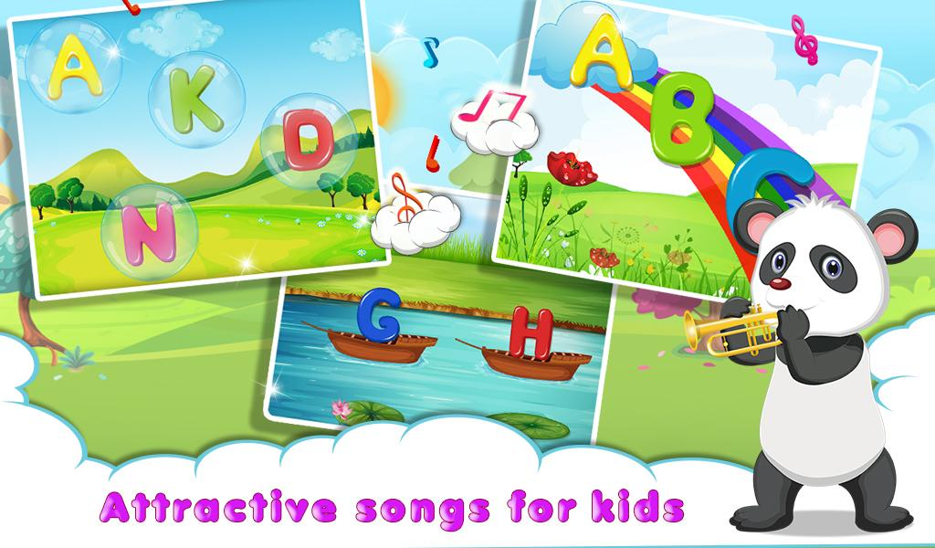 kids abc letter puzzles song screenshot