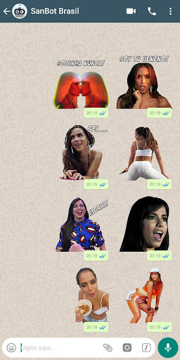 Anitta Stickers Pro para WhatsApp  screenshots 1
