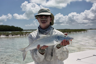 Photo: Dr. Jeff Innes with a beauty on Andros in May 2010