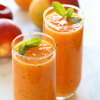 Summer Mango Stone Fruit Smoothie