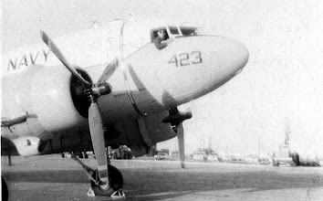 """Photo: C-47 (actually an R4D)  is the Beeville """"Queen"""", Malcolm Steck in the cockpit."""
