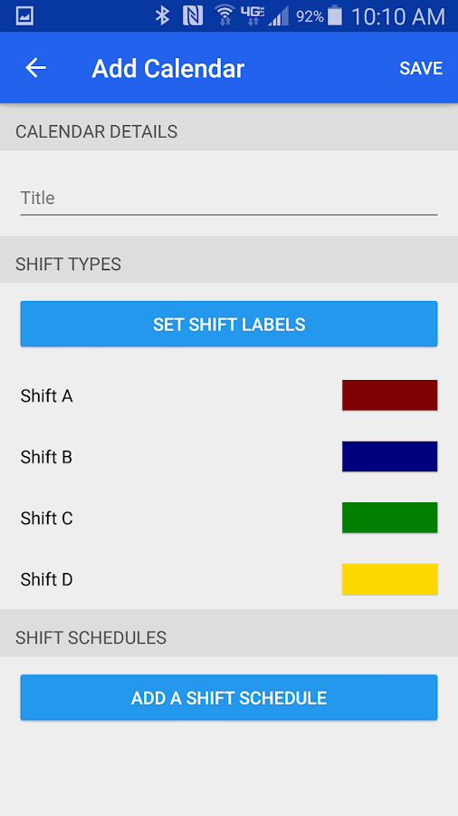 Firehouse Scheduler- screenshot