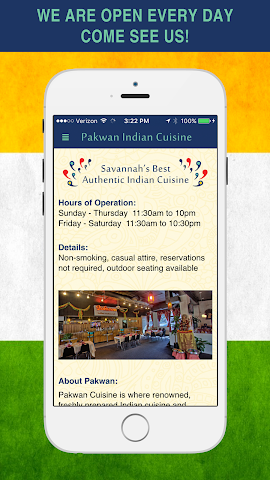 android Pakwan Indian Cuisine Screenshot 2