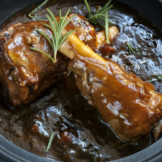Braised Lamb Shanks In Port Wine Sauce