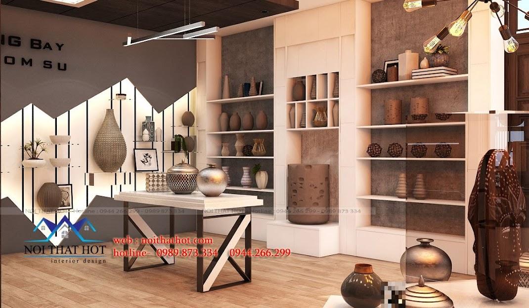 thiết kế showroom gốm sứ chuyên nghiệp