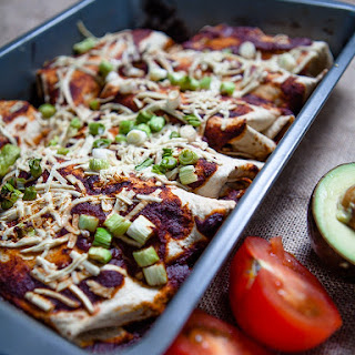 Vegan Black Bean Enchilada.