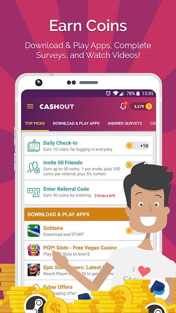 CashOut - Make Money & Free Cash on Google Play Reviews   Stats