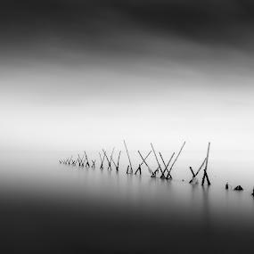 Minimal by Taufan Andri - Black & White Landscapes ( #bwphotography #bnwminimalism #blackandwhite #minimalis #minimalmood )