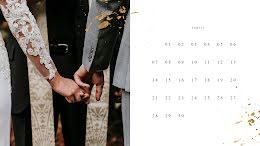 Wedding Monthly - Monthly Calendar item
