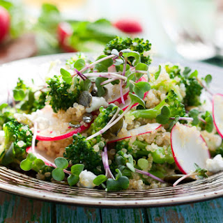 Broccolini, Radish and Quinoa Salad with Feta.