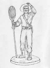 Photo: Drawing by Anthony Smith showing the final design of statue (February 2013). Copyright Anthony Smith.