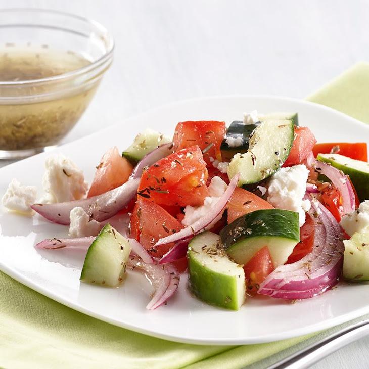 Greek Vegetable Salad with Herb Vinaigrette