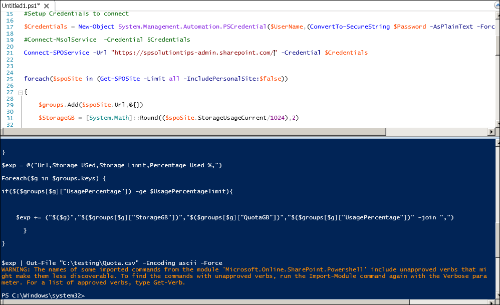 SharePoint Solutions Tips: SharePoint Online Automation: Checking