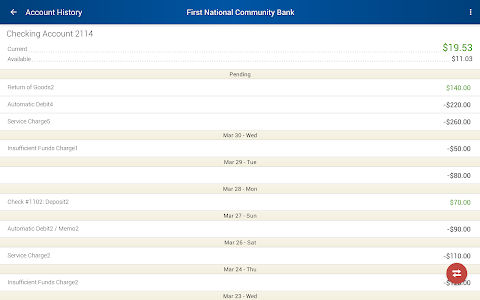 First National Community Bank screenshot 6