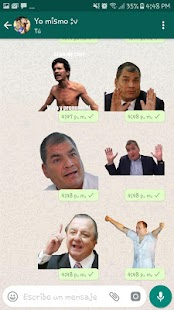 Stickers ecuatorianos para WhatsApp WAStickerApps Screenshot