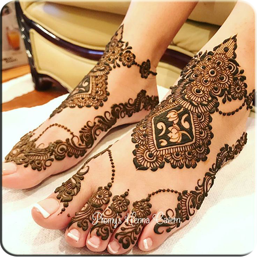 Art of Drawing Henna On Feet