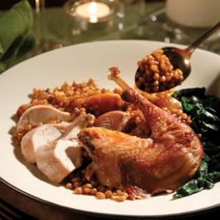 Roasted Pheasant with Wheat Berry Salad